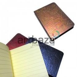 """Блокнот """"Винтажное письмо"""" коричневый, с золотым торцом, 90 х 128 мм., 96 листов, YASAC"""