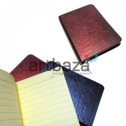 """Блокнот """"Винтажное письмо"""" красный, с золотым торцом, 90 х 128 мм., 96 листов, YASAC"""