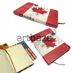 """Блокнот """"Флаг CANADA"""" 104 х 139 мм., 80 листов, YASAC"""