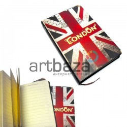 "Блокнот ""Флаг GREAT BRITAIN London"" 94 х 145 мм., 96 листов, YASAC"
