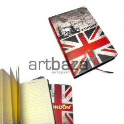 "Блокнот ""Флаг GREAT BRITAIN Тауэрский мост"" 94 х 145 мм., 96 листов, YASAC"
