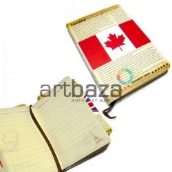 """Блокнот """"CANADA"""", 84 х 124 мм., 72 листа, YASAC"""
