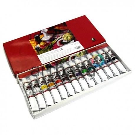 Набор художественных гуашевых красок, 14 цветов по 12 мл., Maries