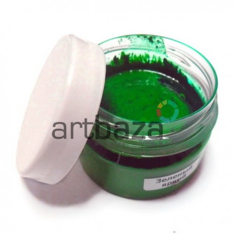 """Краска гуашевая профессиональная """"Зеленый яркий"""", 150 мл."""