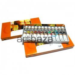 Набор художественных масляных красок, 12 цветов по 12 мл., Maries, арт.: E1386B (6901893120865) для масляной живописи