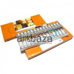 Набор художественных масляных красок для рисования, 14 цветов по 12 мл., Maries, арт.: E1387B (6901893120872)