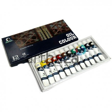Набор художественных масляных красок для живописи, 12 цветов по 12 мл., Martol ● OT-2012 ● 6901893152125