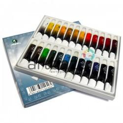 Набор художественных масляных красок, 24 цвета по 12 мл., Maries