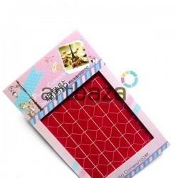 Уголки для альбомов и фотографий в скрапбукинге и кардмейкинге Photo Corners, цвет красный, 102 штуки