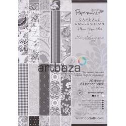 "Набор бумаги для скрапбукинга ""Mono Paper Pack by Lina Liggins"", Papermania"