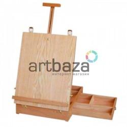 Мольберт - этюдник настольный с палитрой без ножек, размер 44 x 33 x 10 см., CONDA