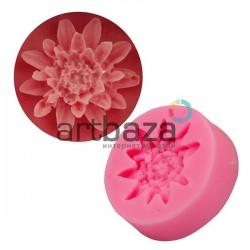 Силиконовый молд 3D (вайнер), цветок, размер 3.5 х 3.5 см., толщина 1.2 см., REGINA