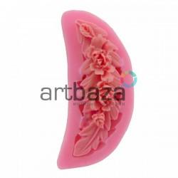 Силиконовый молд 3D (вайнер), ветка цветов, размер 7 х 3 см., толщина 1 см., REGINA