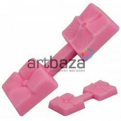 Силиконовый молд 3D (вайнер), клевер, размер 7 х 2.5 см., толщина 0.8см., REGINA