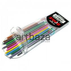 Цветные стержни (грифели) графитовые для цанговых карандашей, 2В, Ø2 мм.