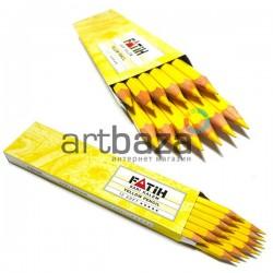Карандаш (портного) для нанесения рисунка по ткани, смываемый, жёлтый, FATIH