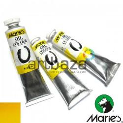 Краска художественная масляная, желтый бледный, 216, туба 50 мл., Maries