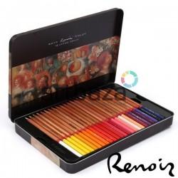 Набор профессиональных цветных карандашей, 48 шт., в металлическом пенале, Marco Renoir