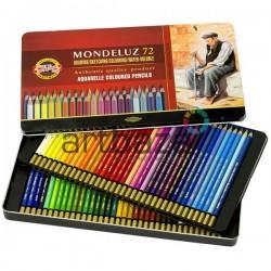 Набор акварельных карандашей Mondeluz, 72 цв. в металлической коробке, Koh-i-noor