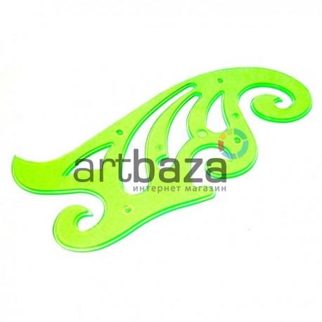 Пластиковое прозрачное лекало для черчения, постоянной кривизны 20 см., BODA ● BD6