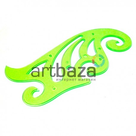 Пластиковое прозрачное лекало для черчения, постоянной кривизны 30 см., BODA ● BD8