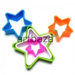 """Набор детских пластиковых каттеров (резаков) для полимерной глины и пластилина, 5 шт., """"Звезда"""""""