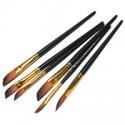 Кисть синтетическая Black Gold (RG-10052), скошенная, REGINA